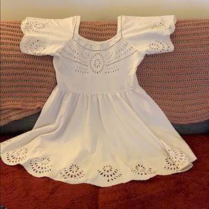 Staring at stars cream short dress size 12